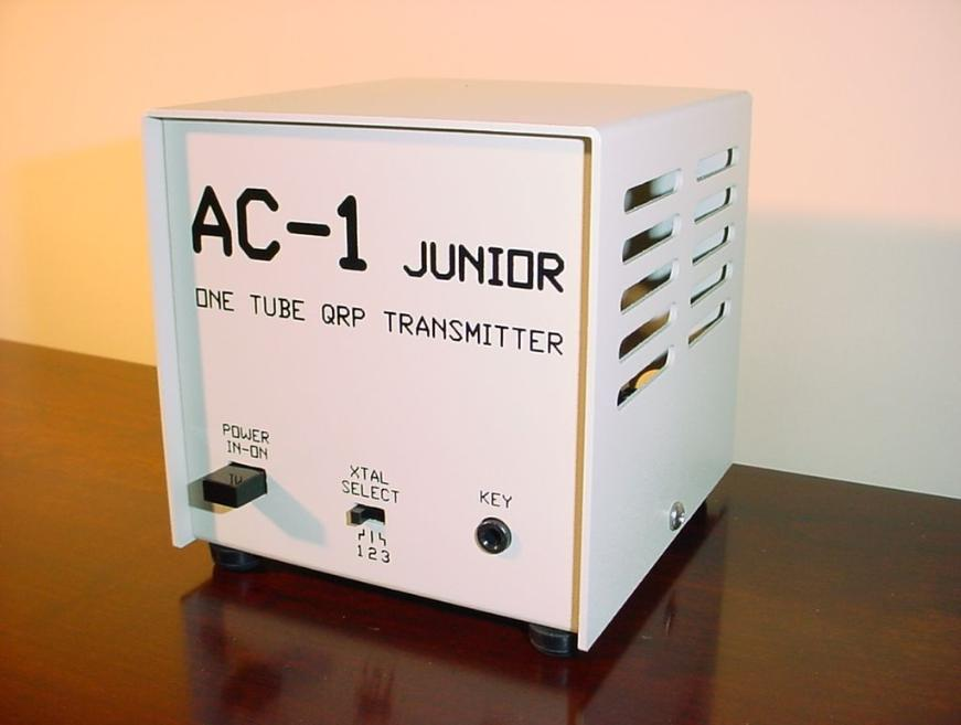 One Tube QRP Transmitter http://kq2rp.tumblr.com/post/17210476445/build-the-ac-1-junior-glowbug